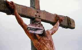 velociraptor crucified