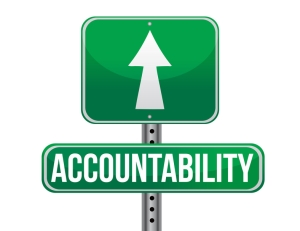 accountability road sign illustration design over a white background