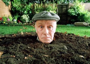 TELEVISION PROGRAMMES... One Foot In The Grave; Richard Wilson pictured as Victor Meldrew.