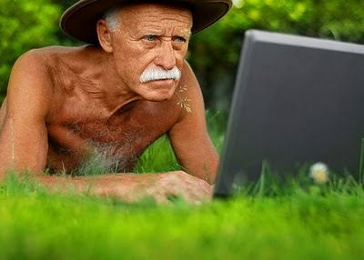 Old people dating online