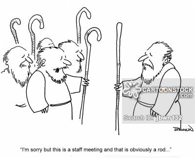 'I'm sorry but this is a staff meeting and that is obviously a rod...'