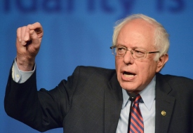 Democratic Presidential Candidate Bernie Sanders Campaigns At Pennsylvania's AFL-CIO Convention